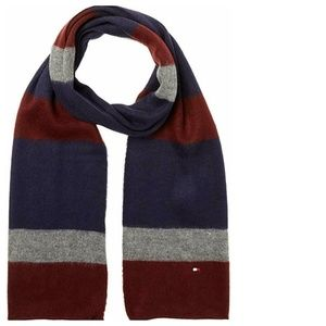 Tommy Hilfiger Colorblock Knit Scarf NEW